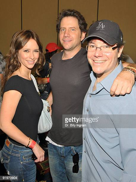 Actress Jeniffer Love Hewitt actor Jamie Kennedy and 2006 WSOP Champion Jamie Gold participate in the Children's Institute ''Poker For A Cause''...