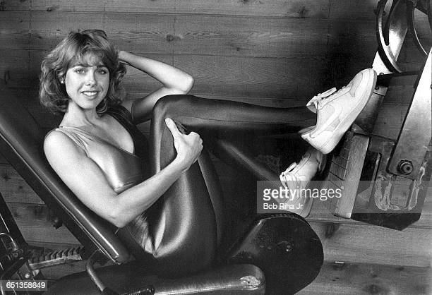 Actress Jenilee Harrison of televison's 3's Company show during workout session August 1 1985 in Los Angeles California