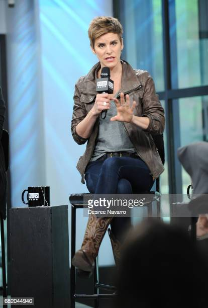 Actress Jenn Colella attends Build to discuss the show 'Come From Away' at Build Studio on May 11 2017 in New York City