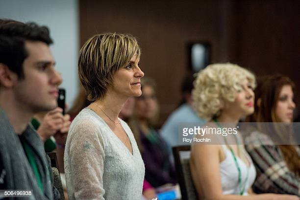 Actress Jenn Colella hosts a master class during BroadwayCon 2016 at the New York Hilton Midtown on January 23 2016 in New York City