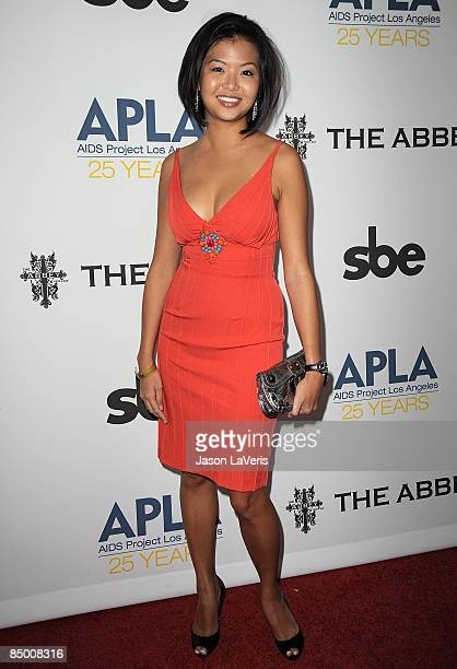 Actress Jenn Liu attends APLA's 8th annual Oscar viewing party The Envelope Please at The Abbey on February 22 2009 in West Hollywood California