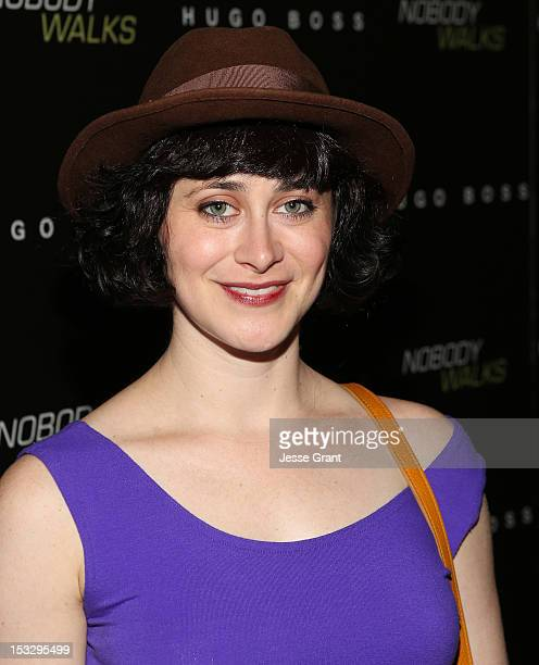 Actress Jenn Schatz arrives at the Los Angeles premiere of 'Nobody Walks' at the ArcLight Hollywood on October 2 2012 in Hollywood California