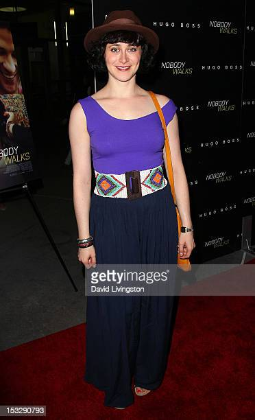 Actress Jenn Schatz attends the premiere of Magnolia Pictures' Nobody Walks at ArcLight Hollywood on October 2 2012 in Hollywood California