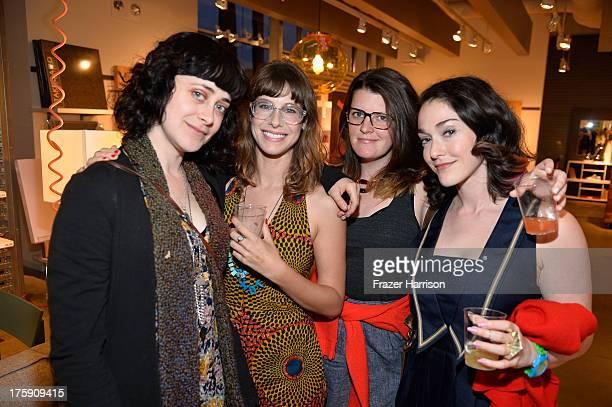 Actress Jenn Schatz writer Megan Neuringer producer Ashley Friedman and filmmaker Abby Koocher attend the Next Friday Party during NEXT WEEKEND...