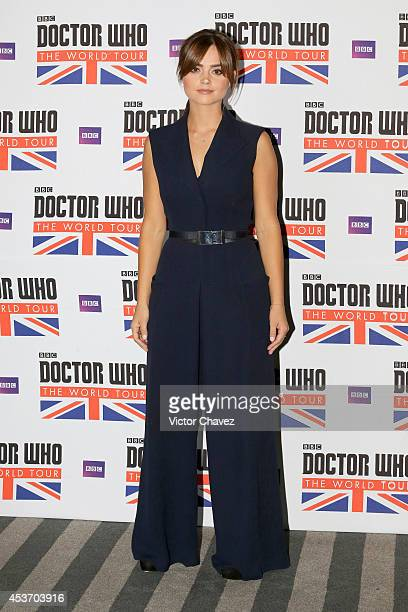 Actress Jenna Coleman attends Doctor Who The World Tour Mexico City photo call at Hilton Centro Histórico hotel on August 16 2014 in Mexico City...