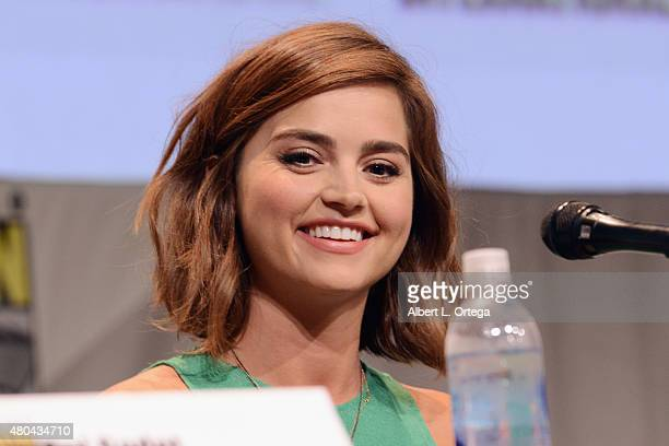 Actress Jenna Coleman attends the Entertainment Weekly Women Who Kick Ass panel during ComicCon International 2015 at the San Diego Convention Center...