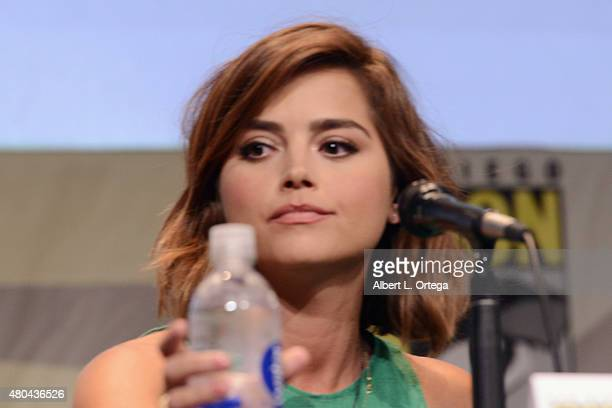 Actress Jenna Coleman speaks onstage at the Entertainment Weekly Women Who Kick Ass panel during ComicCon International 2015 at the San Diego...