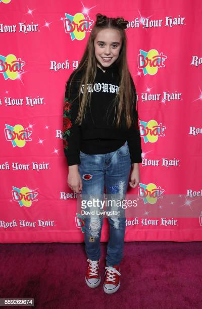 Actress Jenna Davis attends social media influencer Annie LeBlanc's 13th birthday party at Calamigos Beach Club on December 9 2017 in Malibu...