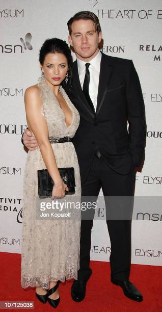 Actress Jenna Dewan and husband Channing Tatum arrive at The Art of Elysium's 3rd Annual BlackTie Charity Gala Heaven at 9900 Wilshire Blvd on...