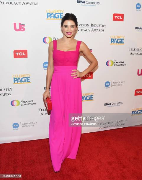 Actress Jenna Dewan arrives at 2018 Television Advocacy Awards Benefiting The Creative Coalition at the Sofitel Los Angeles At Beverly Hills on...
