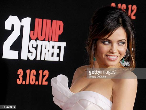Actress Jenna Dewan arrives at '21 Jump Street' Los Angeles Premiere at Grauman's Chinese Theatre on March 13 2012 in Hollywood California