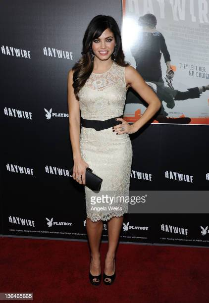 Actress Jenna Dewan arrives at Relativity Media's premiere of 'Haywire' cohosted by Playboy held at DGA Theater on January 5 2012 in Los Angeles...