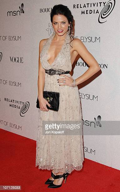 Actress Jenna Dewan arrives at The Art of Elysium's 3rd Annual BlackTie Charity Gala Heaven at 9900 Wilshire Blvd on January 16 2010 in Beverly Hills...