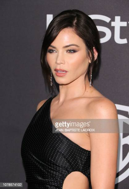 US actress Jenna Dewan arrives for the Warner Bros and In Style 20th annual post Golden Globes party at the Oasis Courtyard of the Beverly Hilton...