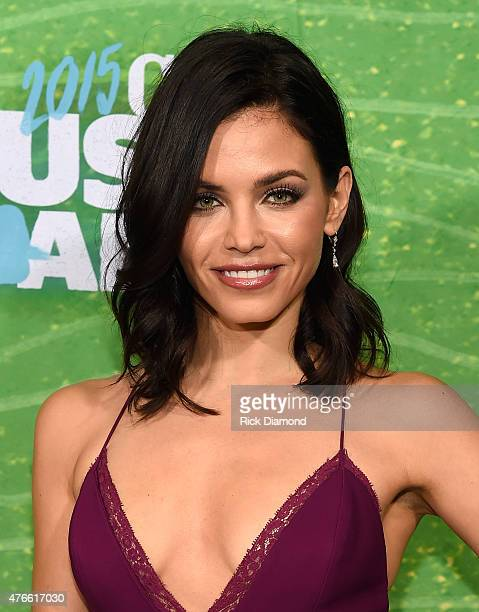 Actress Jenna Dewan attends the 2015 CMT Music awards at the Bridgestone Arena on June 10 2015 in Nashville Tennessee