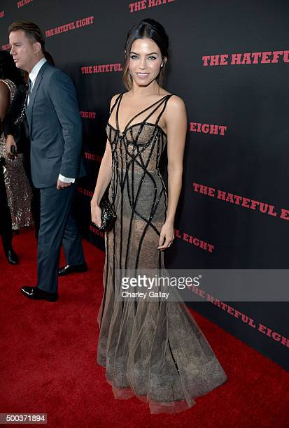 Actress Jenna Dewan attends the world premiere of 'The Hateful Eight' presented by The Weinstein Company at ArcLight Cinemas Cinerama Dome on...