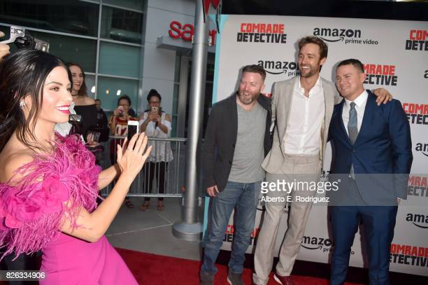 Actress Jenna Dewan Tatum and Free Association's Peter Kiernan Reid Carolin and Channing Tatum attend the premiere of Amazon's Comrade Detective at...