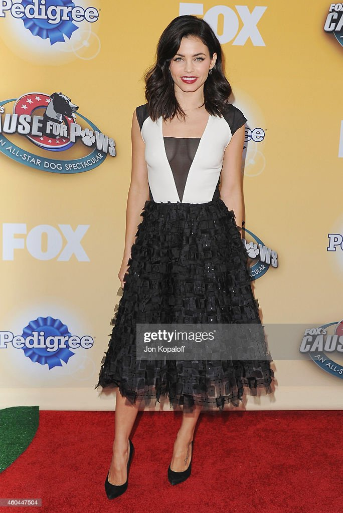 Actress Jenna Dewan Tatum arrives at FOX's Cause For Paws: An All-Star Dog Spectacular at The Barker Hanger on November 22, 2014 in Santa Monica, California.
