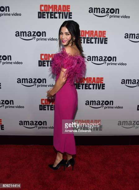 """Actress Jenna Dewan Tatum arrives at the premiere of Amazon's """"Comrade Detective"""" at the ArcLight Hollywood on August 3, 2017 in Hollywood,..."""