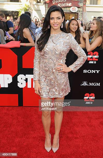 Actress Jenna DewanTatum arrives at the Los Angeles Premiere 22 Jump Street at Regency Village Theatre on June 10 2014 in Westwood California