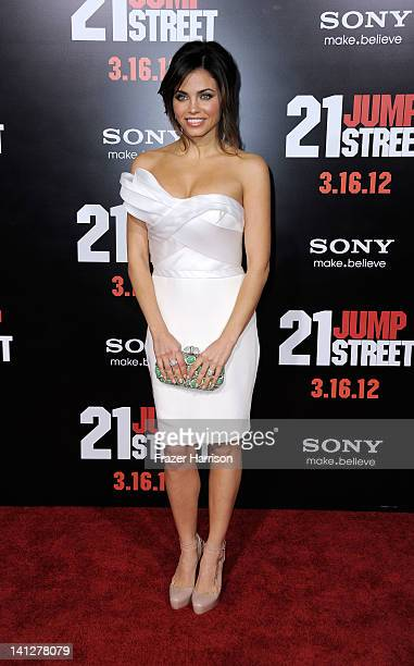 Actress Jenna DewanTatum arrives at the Premiere Of Columbia Pictures' 21 Jump Street at Grauman's Chinese Theatre on March 13 2012 in Hollywood...
