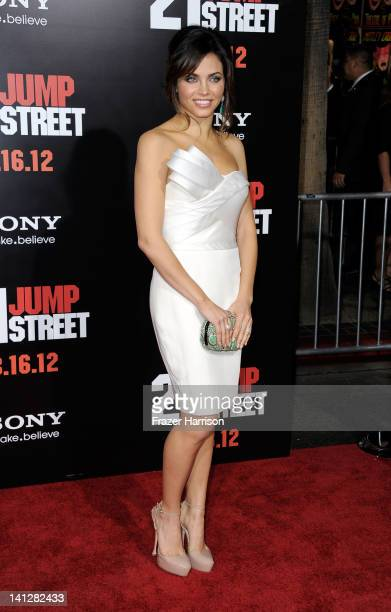 Actress Jenna DewanTatum arrives at the Premiere Of Columbia Pictures' '21 Jump Street' at Grauman's Chinese Theatre on March 13 2012 in Hollywood...