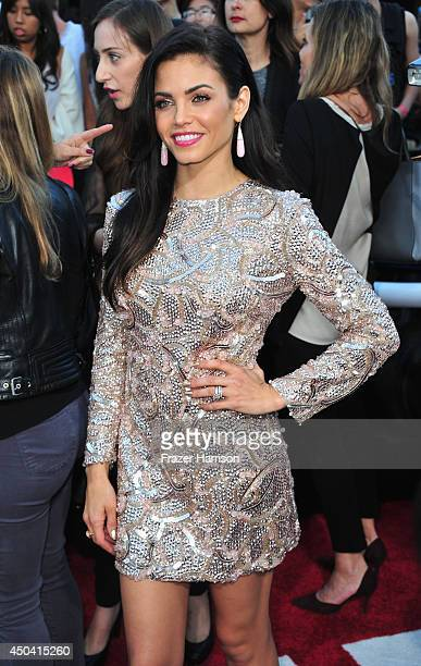 Actress Jenna DewanTatum arrives at the Premiere Of Columbia Pictures' 22 Jump Street at Regency Village Theatre on June 10 2014 in Westwood...
