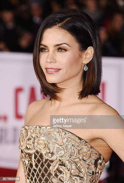 Actress Jenna DewanTatum arrives at the Premiere Of Universal Pictures' 'Hail Caesar' at Regency Village Theatre on February 1 2016 in Westwood...
