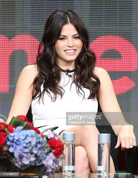 Actress Jenna DewanTatum speaks onstage during the Witches of East End panel discussion at the Lifetime portion of the 2013 Summer Television Critics...