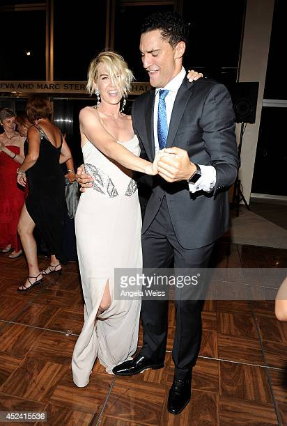 Actress Jenna Elfman and dancer Fabrice Calmels attend Dizzy Feet Foundation's Celebration Of Dance Gala at The Music Center on July 19 2014 in Los...