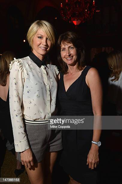 Actress Jenna Elfman and Dawn Steinberg EVP Talent and Casting at Sony Pictures Television attend The DIRECTV Premiere event for the fifth and Final...