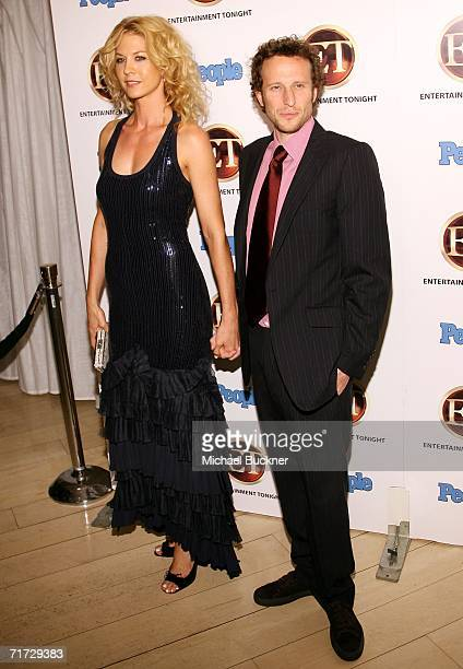 Actress Jenna Elfman and husband actor Bodhi Elfman arrive at the 10th Annual Entertainment Tonight Emmy Party sponsored by People Magazine held at...