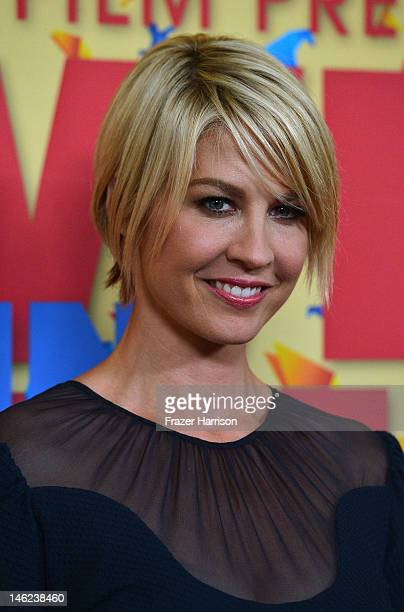 Actress Jenna Elfman arrives at the 2012 Women In Film Crystal Lucy Awards at The Beverly Hilton Hotel on June 12 2012 in Beverly Hills California