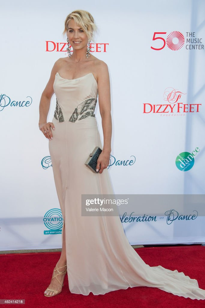 Actress Jenna Elfman arrives at the 4th Annual Celebration Of Dance Gala Presented By The Dizzy Feet Foundation at Dorothy Chandler Pavilion on July 19, 2014 in Los Angeles, California.
