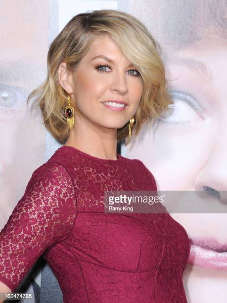 Actress Jenna Elfman arrives at the Los Angeles premiere of 'Identity Thief' held at Mann Village Theatre on February 4 2013 in Westwood California