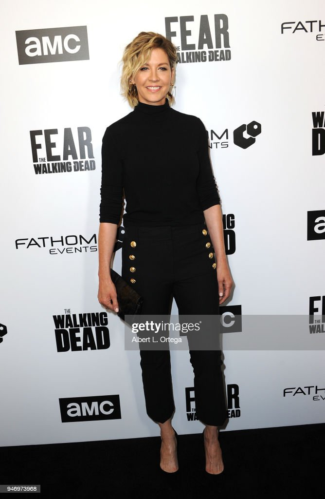 Actress Jenna Elfman arrives for the Fathom Events And AMC's 'Survival Sunday: The Walking Dead And Fear The Walking Dead' held at AMC Century City 15 theater on April 15, 2018 in Century City, California.