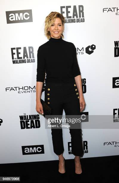 Actress Jenna Elfman arrives for the Fathom Events And AMC's Survival Sunday The Walking Dead And Fear The Walking Dead held at AMC Century City 15...