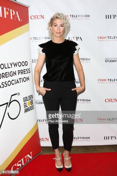 Actress Jenna Elfman attends California State University Northridge's dedication of The Hollywood Foreign Press Association wing at California State...