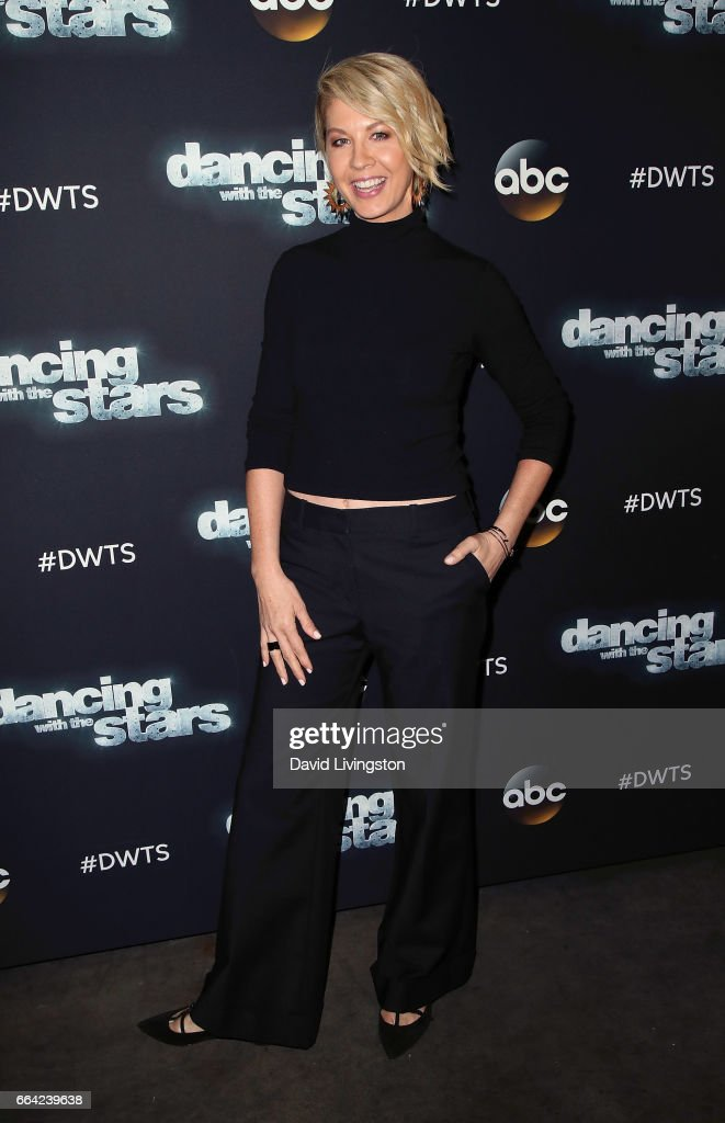 Actress Jenna Elfman attends 'Dancing with the Stars' Season 24 at CBS Televison City on April 3, 2017 in Los Angeles, California.