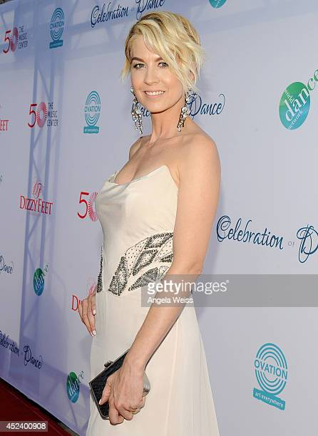 Actress Jenna Elfman attends Dizzy Feet Foundation's Celebration Of Dance Gala at The Music Center on July 19 2014 in Los Angeles California