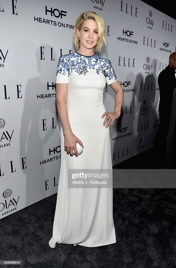 Actress Jenna Elfman attends ELLE's 6th Annual Women in Television Dinner Presented by Hearts on Fire Diamonds and Olay at Sunset Tower on January 20, 2016 in West Hollywood, California.