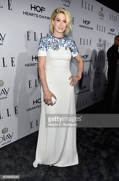 Actress Jenna Elfman attends ELLE's 6th Annual Women in Television Dinner Presented by Hearts on Fire Diamonds and Olay at Sunset Tower on January 20...