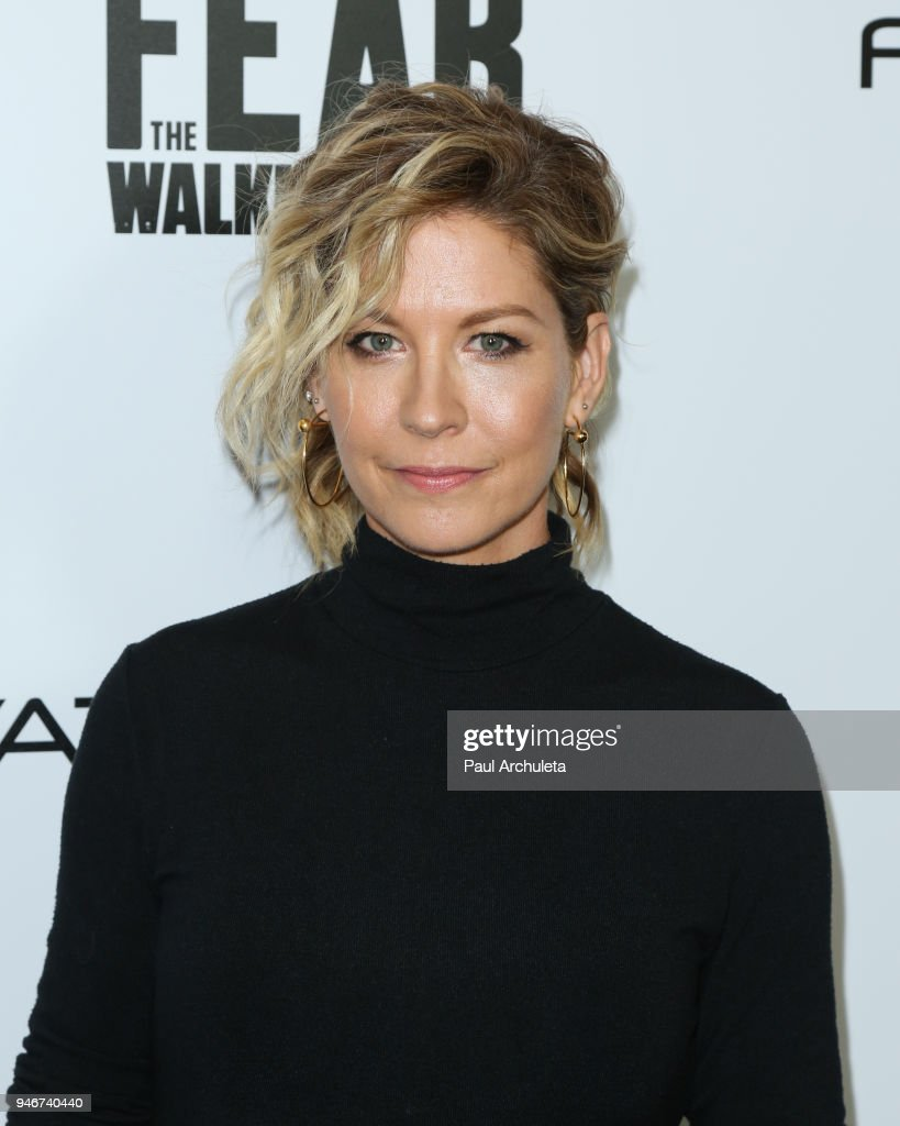 Actress Jenna Elfman attends 'Survival Sunday: The Walking Dead and Fear The Walking Dead' at AMC Century City 15 theater on April 15, 2018 in Century City, California.