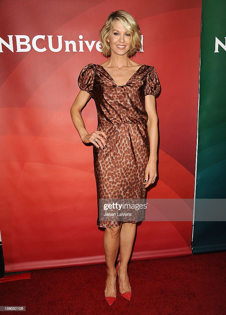 Actress Jenna Elfman attends the 2013 NBC TCA Winter Press Tour at The Langham Huntington Hotel and Spa on January 6, 2013 in Pasadena, California.
