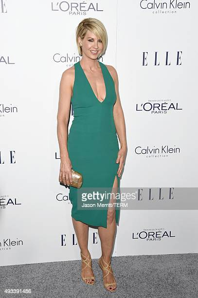 Actress Jenna Elfman attends the 22nd Annual ELLE Women in Hollywood Awards at Four Seasons Hotel Los Angeles at Beverly Hills on October 19 2015 in...