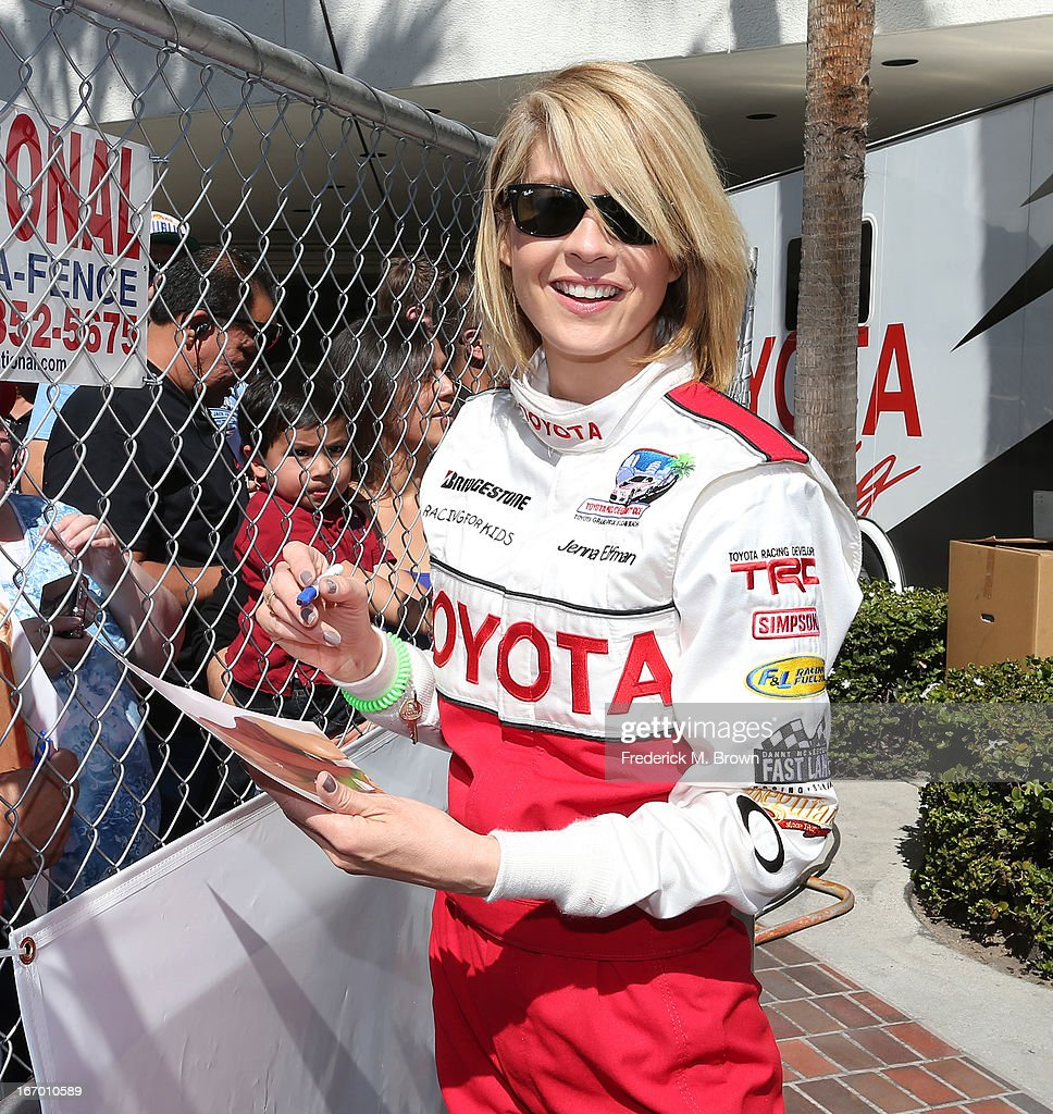 Actress Jenna Elfman attends the 37th Annual Toyota Pro/Celebrity Race practice on April 19, 2013 in Long Beach, California.
