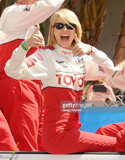Actress Jenna Elfman attends the 37th Annual Toyota Pro/Celebrity Race on April 20 2013 in Long Beach California