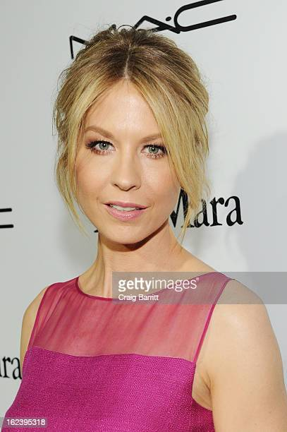 Actress Jenna Elfman attends the 6th Annual Women In Film PreOscar Party hosted by Perrier Jouet MAC Cosmetics and MaxMara at Fig Olive on February...