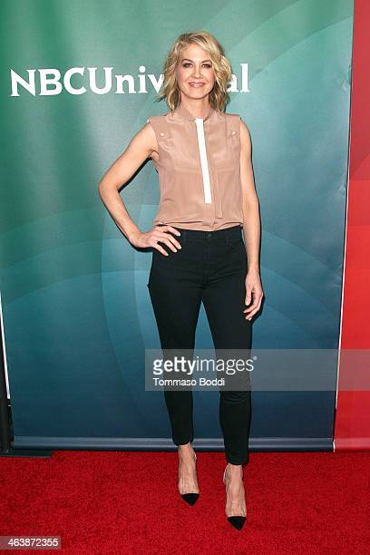 Actress Jenna Elfman attends the NBC/Universal 2014 TCA Winter Press Tour held at The Langham Huntington Hotel and Spa on January 19 2014 in Pasadena...