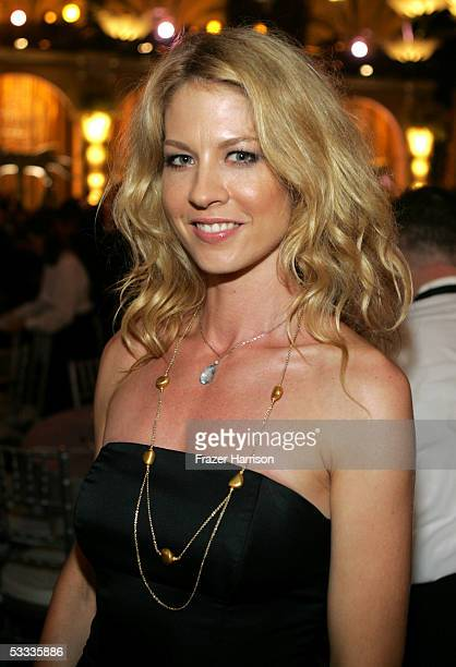 Actress Jenna Elfman poses at the Church of Scientology Celebrity Centre 36th Anniversary Gala on August 6 2005 in Hollywood California